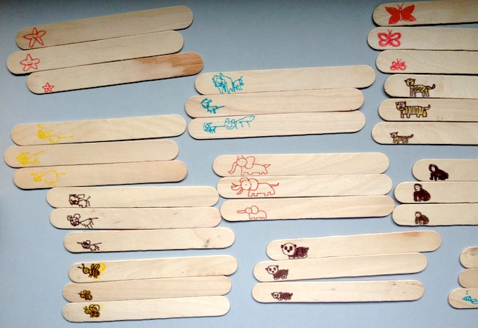 Popsicle Art - Animal Families