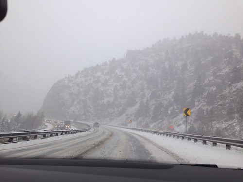 I70 snowy in Colorado