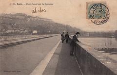 81. Agen. - Pont-Canal sur la Garonne (c.1905)