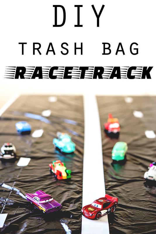 DIY trash bag racetrack #disneyside