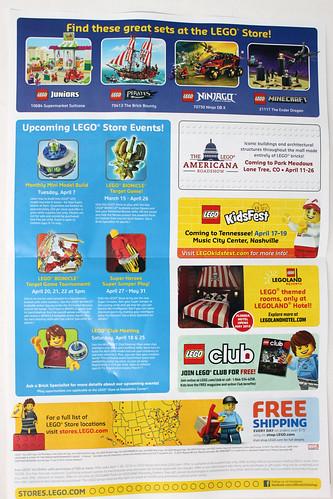 LEGO April 2015 Store Calendar