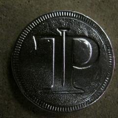 Ten Penny chocolate coin