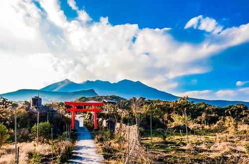 japan kagoshima 日本 torii 鳥居 sakurajima 鹿児島 桜島 光照宮