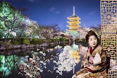 To-ji Pagoda in the Spring