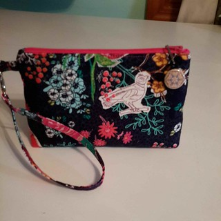 Hope you like Priory Square, I can't get enough of it! This little wristlet plus some goodies are heading out tomorrow for my February pal! @terireymann #2015igsecretpals #essentialwristlet #dogundermydesk #artgalleryfabrics