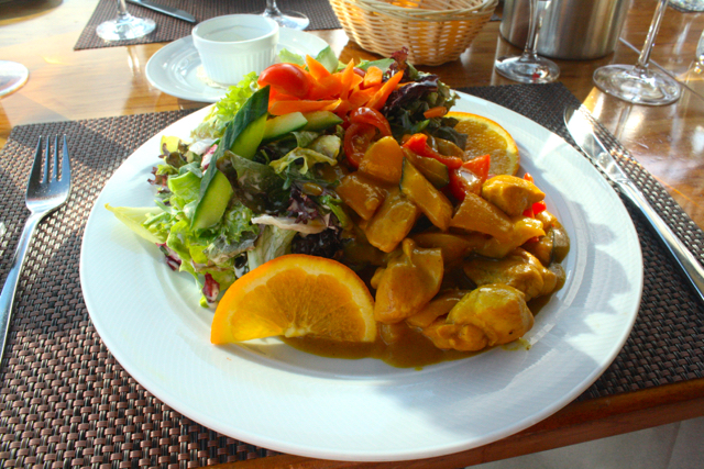 Mango chicken salad at Bastei, Bonn