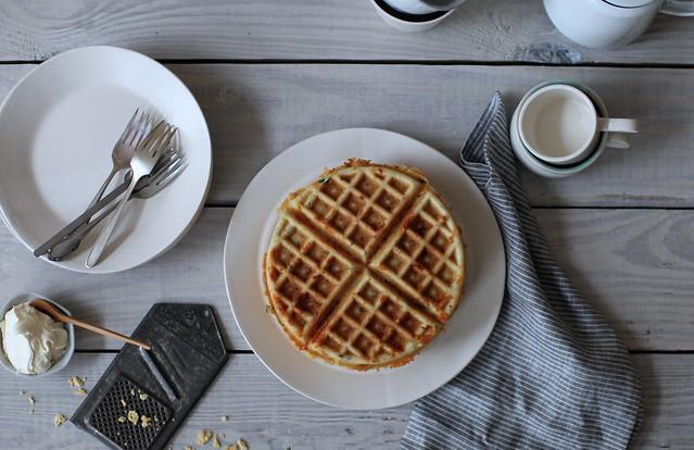 savory + cheesy waffles