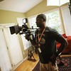 Mark Averett doing the directing thing on a short we decided to begin filming today for the fun of it.
