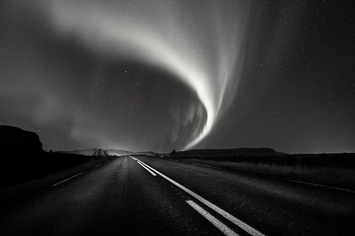 Northern light in Black & White....