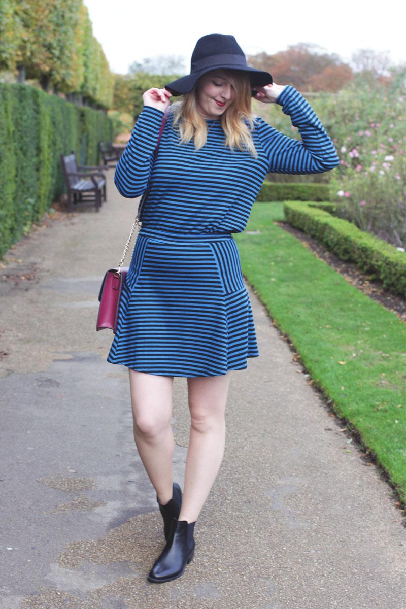 Vero Moda Blue Dress and Boots, Bumpkin Betty