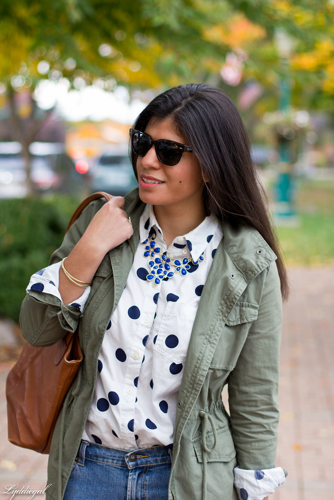 polka dot shirt, utility jacket, brown boots-8.jpg
