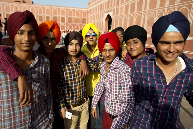 Local sardwar tourist boys
