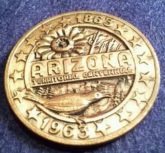 Arizona territorial centennial medal 1963