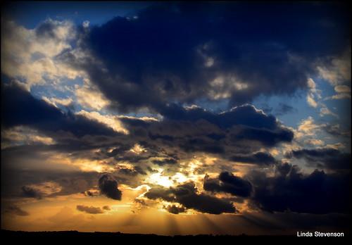 sky sunlight white clouds sunlit sunrays bluehue lightdark sunsetgoldenlight nikond5100