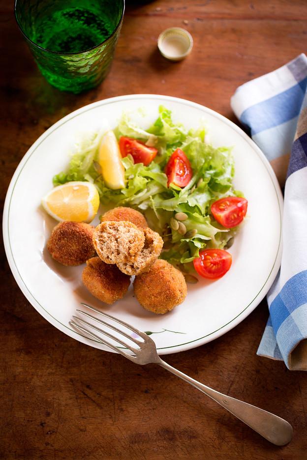 Polpette di seitan con pane e parmigiano