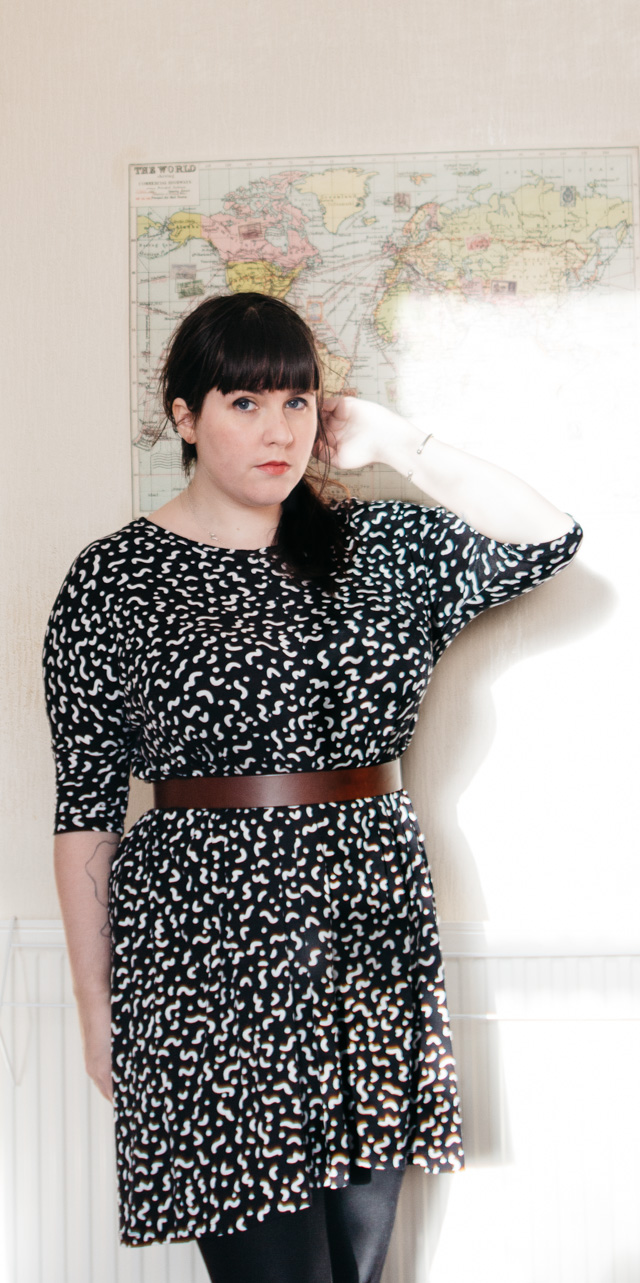 black and white patterned monki jonna dress