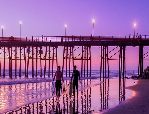 ocean california sunset beach pier sand unitedstates oceanside