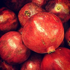 pomegranate, red, produce, fruit, food, still life photography,