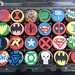 Superhero birthday cupcakes by death by cupcake
