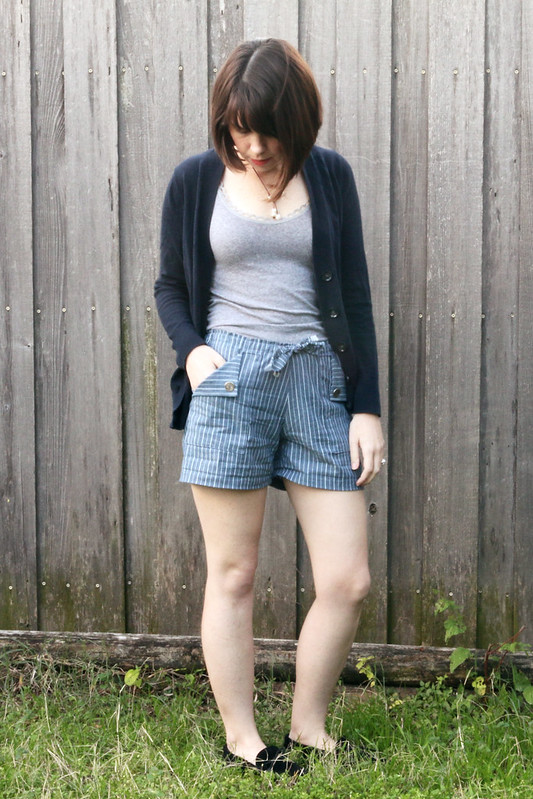 Blank Slate Oceanside Shorts sewn by Dixie DIY