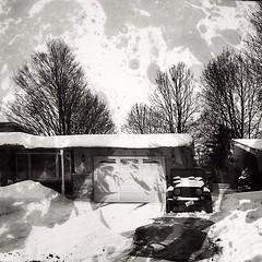 Cartoon(ish) looking winter scene! #cartoon #winter #blackandwhite #textured #blackandwhitephotography @eduardontavares