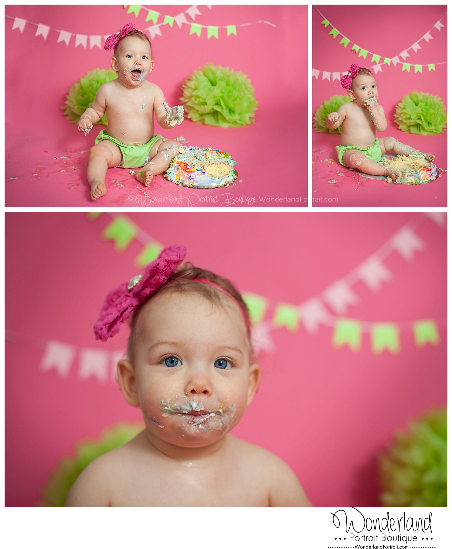 1st Birthday Idea Cake Smash Photography Yardley PA WonderlandPortrait.com