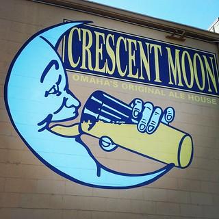 Crescent Moon Wall Sign