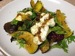 Warm Squash and Goat Cheese Salad