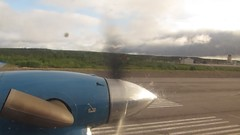 Departing from the Inuvik Airport