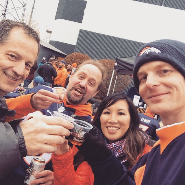 A little Jäger to warm up with before the game!! #DenBestFans #DenVsInd #GoBroncos