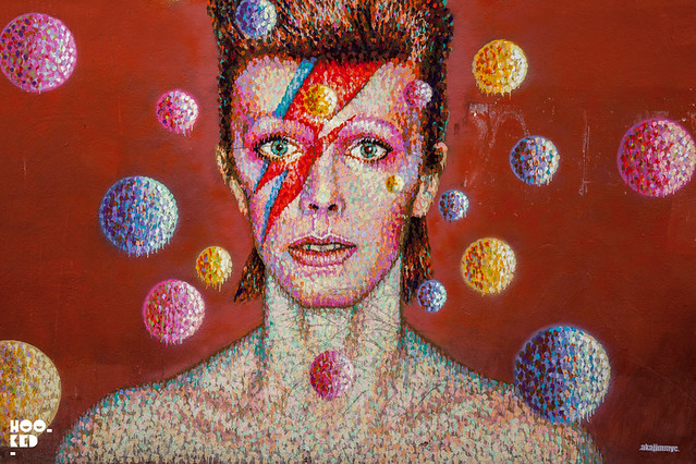 Jimmy C's David Bowie tribute Mural in Brixton, London