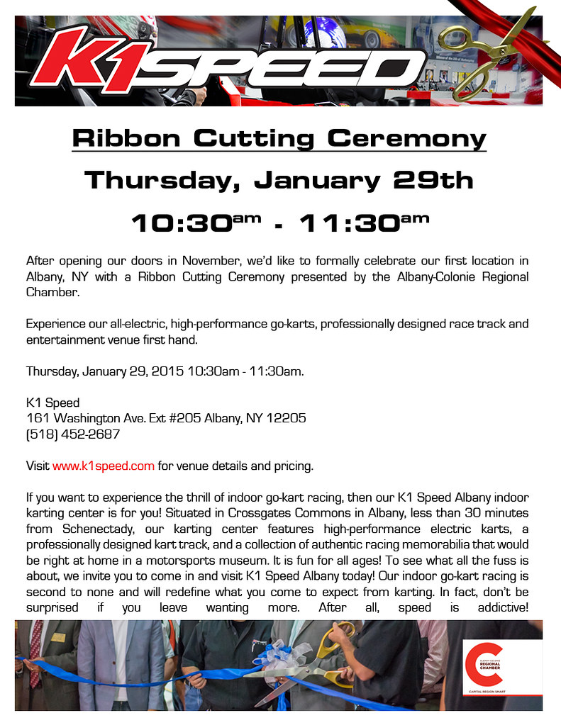 K1 Speed Albany Ribbon Cutting Ceremony K1 Speed K1 Speed