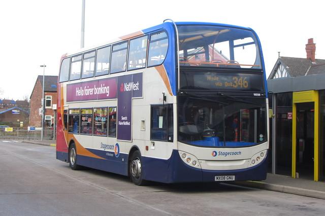 Enviro400 Stagecoach Manchester, MX08 GNU, Ashton-under-Lyne bus station
