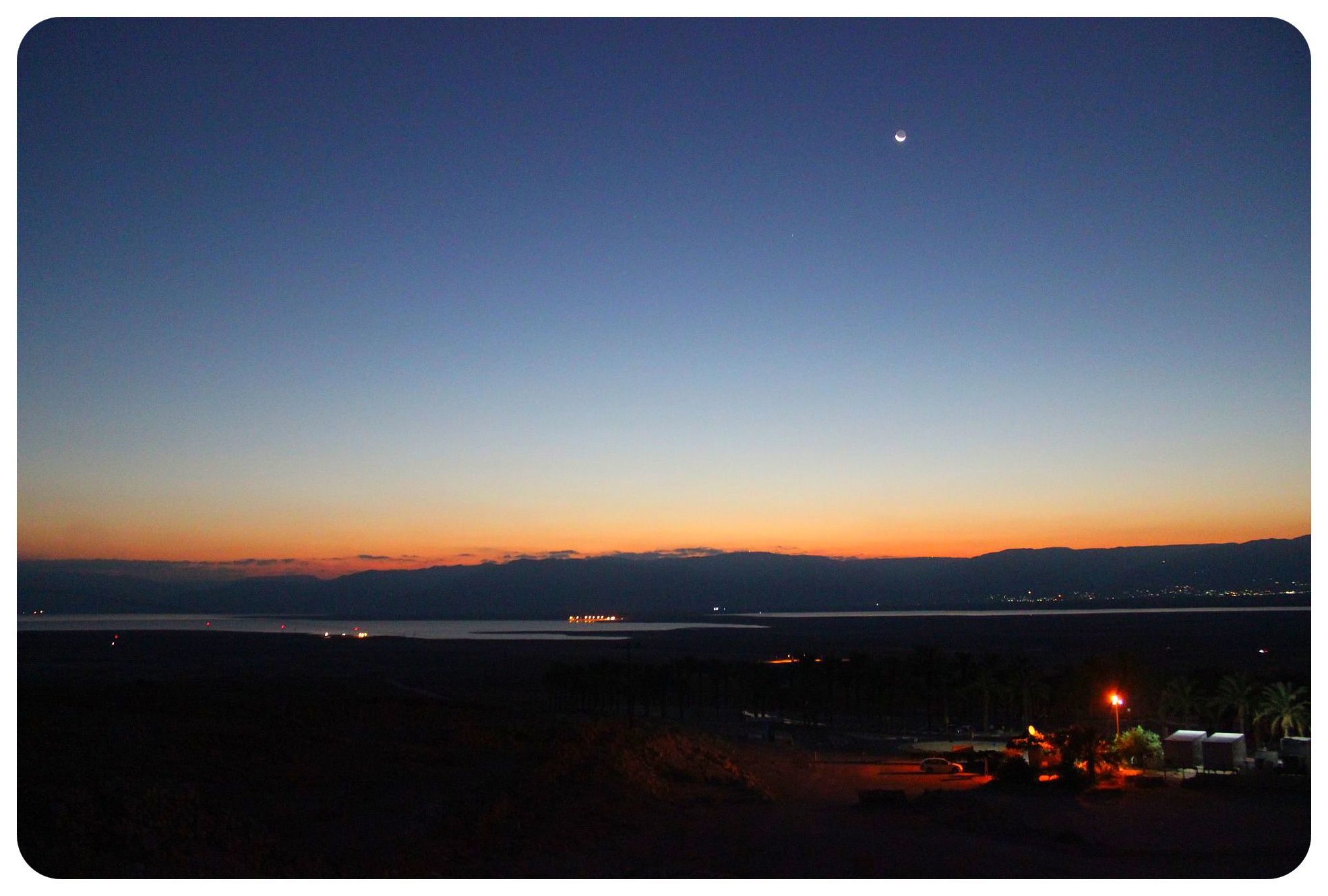 dead sea view before sunrise