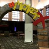 Entry arch to@the digital square/maker space at #TCEA15. Built by my friend Scott and I from cardboard and duct tape. Not fully convinced it will be standing in the AM. #notanengineer