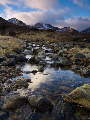 uk mountain skye landscape scotland stream garbhbheinn belig