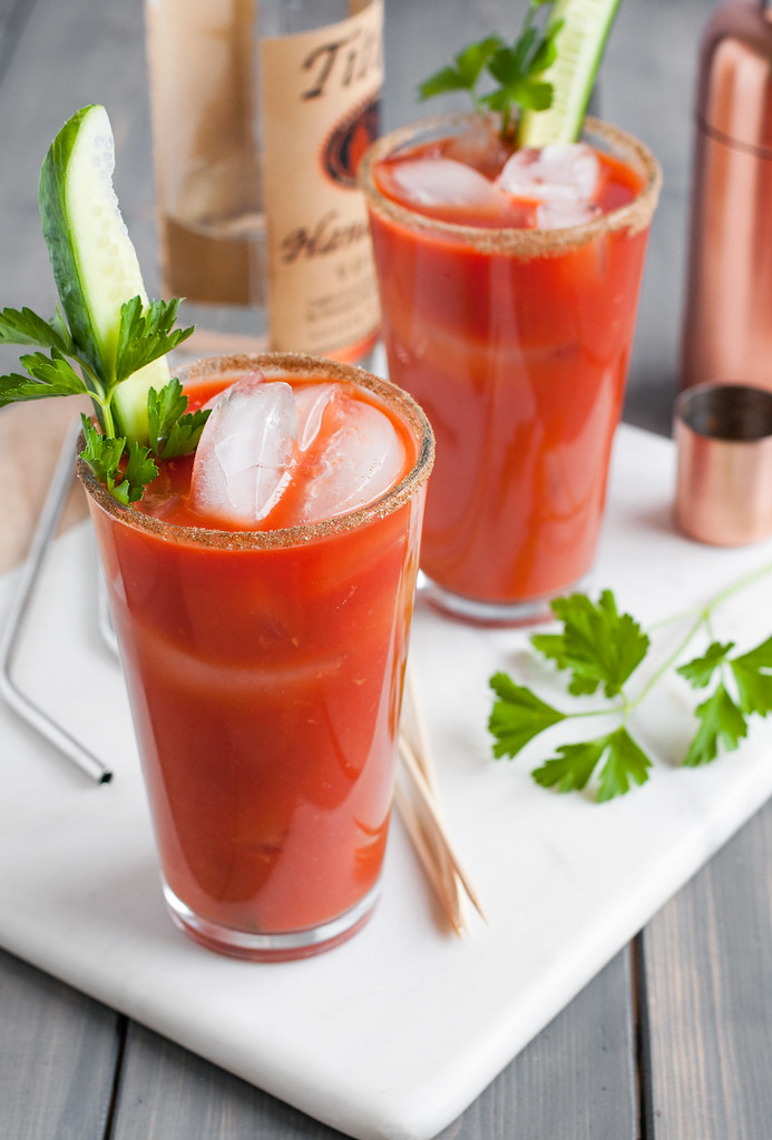 Vegetarian Greek Salad Bloody Mary (no worcestershire) - next brunch or gameday