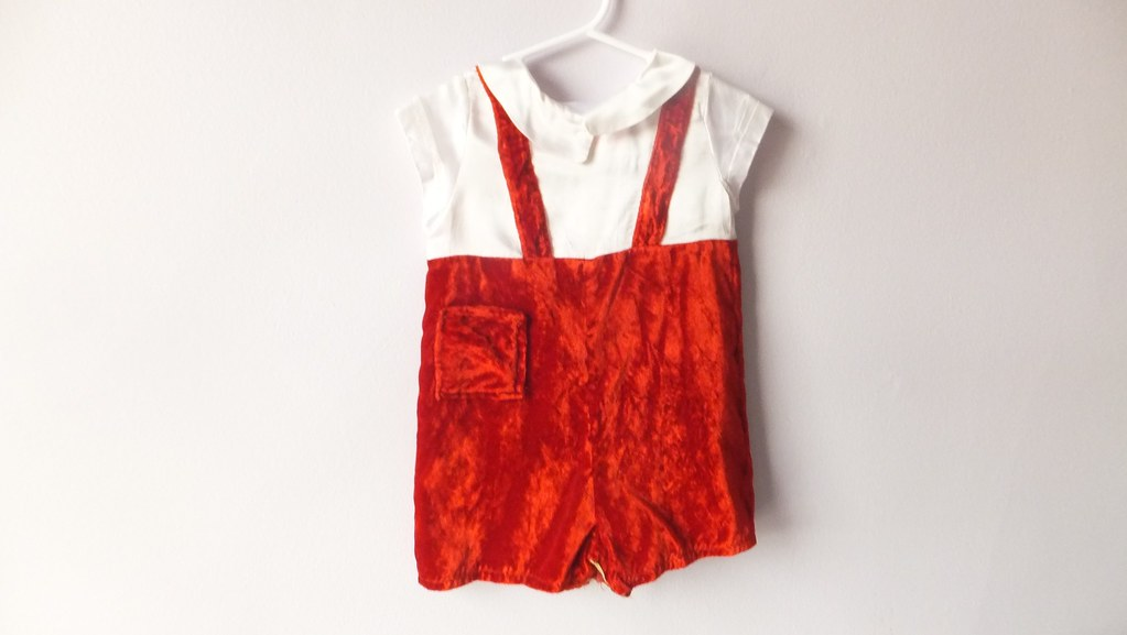 romper red velvet from aloysius christmas