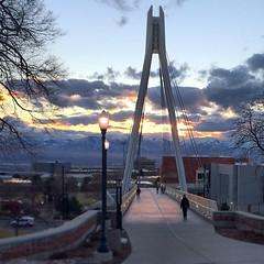 Clear vistas and 50-degree temps on campus today. #UofU #universityofutah #CleanAir #ClearAir #Utah #SLC