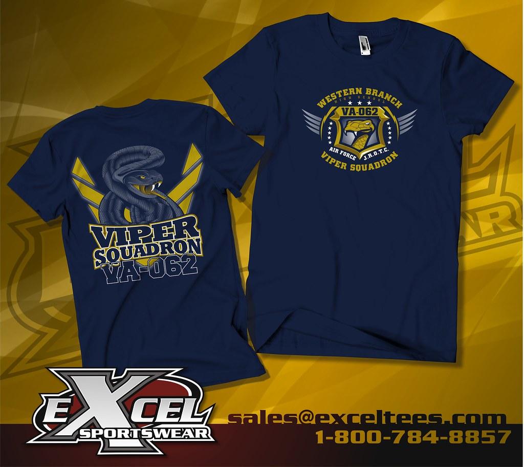 Shirt design tampa - Western Branch High School Afjrotc Viper Squadron Chesapeake Va A Style