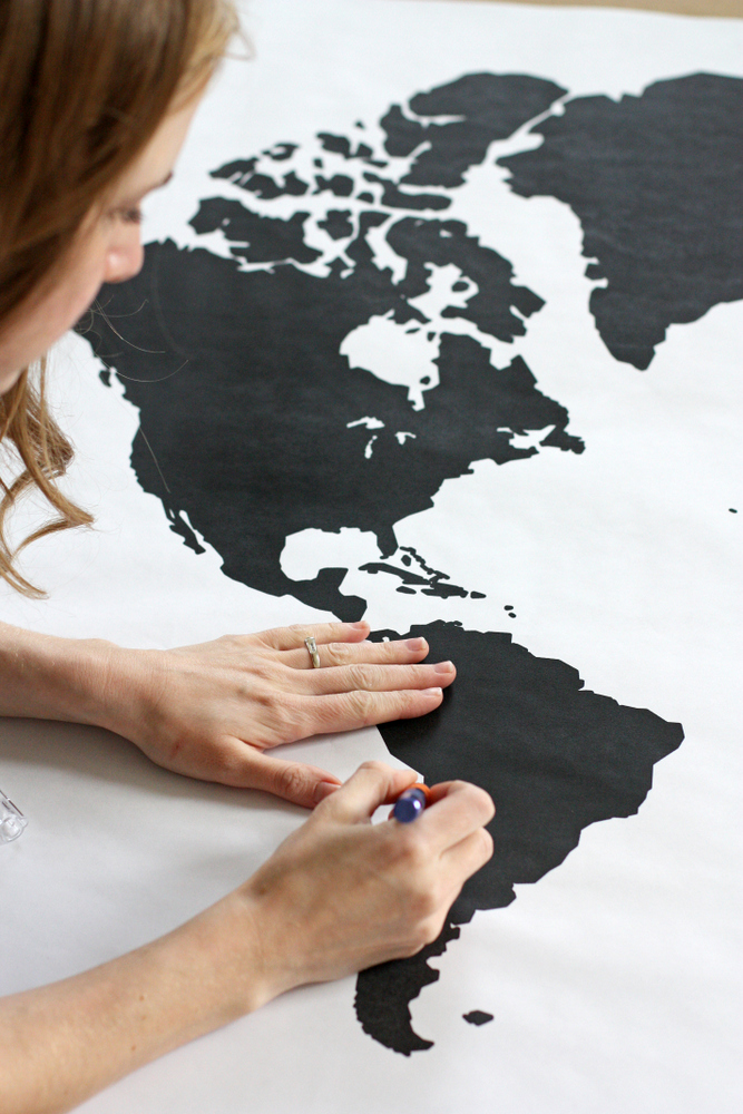 A watercolor world map everyday reading cut out your map gumiabroncs