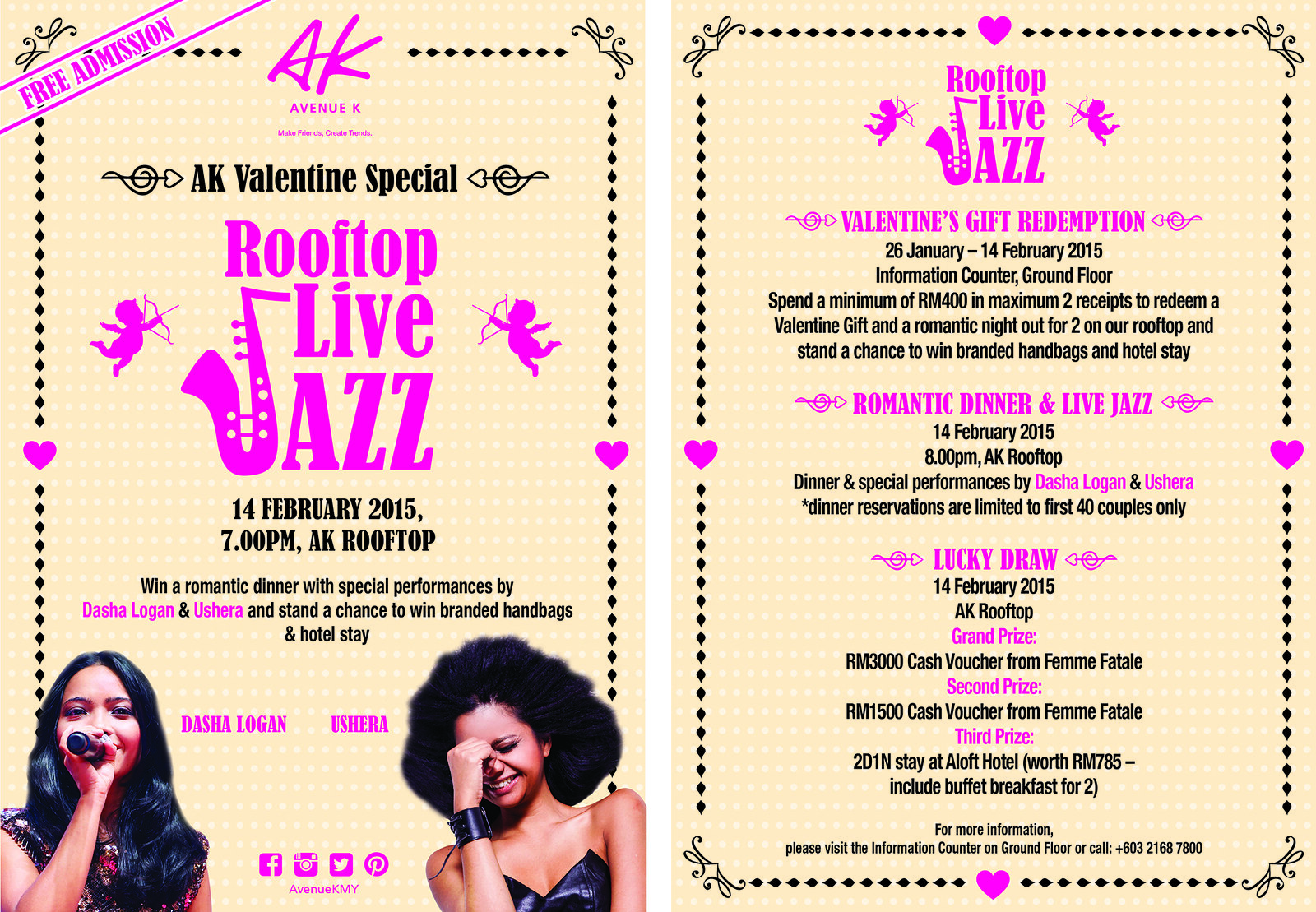 ROOFTOP LIVE JAZZ @ AVENUE K. AK'S Valentine's Special Celebrates Love for All