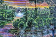 Lure of the Springs Mural in Landa Park, New Braunfels