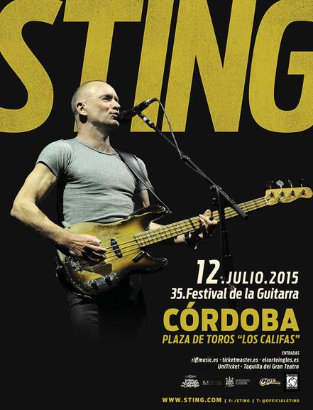 cartel sting festival guitarra cordoba