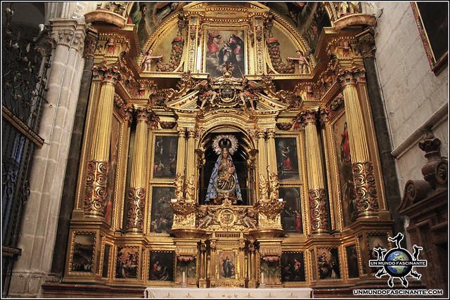 Altar Capilla de la Virgen del Espino de la Catedral de El Burgo de Osma (Soria)