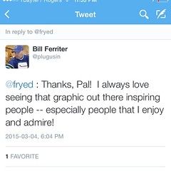 A most awesome tweet! Honoured! #fryed365 #63/365
