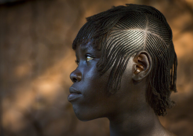 Miss Betelem, Majang Tribe Woman With Traditional Hairstyle, Kobown, Ethiopia