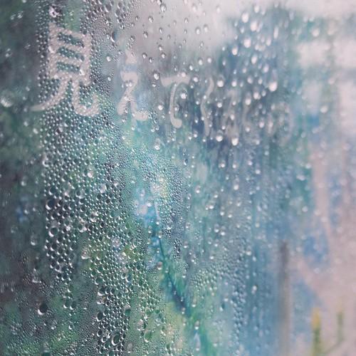 雨ですが、防水スマホで #都電pw2015