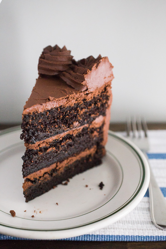 Dark Chocolate Ganache Cake