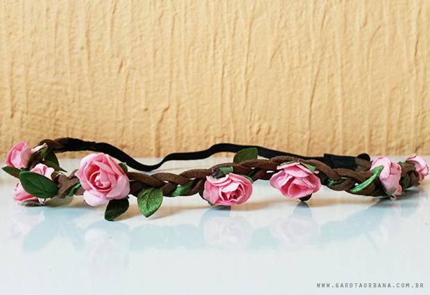 Tiara Coroa de Flores AliExpress